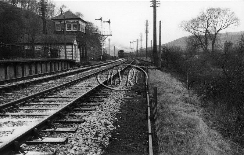 Leek Brook Junction station in British Railway days